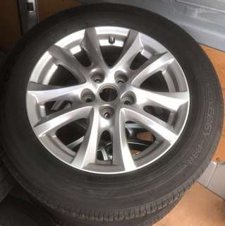 Used 16 tyres with rims for sale