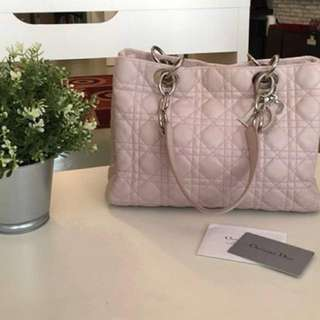 Dior Soft Shopping Tote light pink
