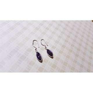 🚚 紫水晶耳環