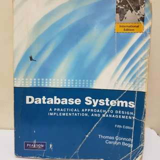 Database Systems Fifth Edition by Thomas Connolly & Carolyn Begg