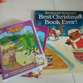 Richard scarry 's best Christmas book ever and dvd set
