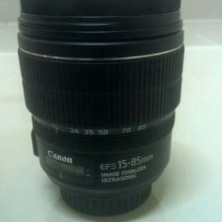 Lens Canon EFS 15-85mm IS USM