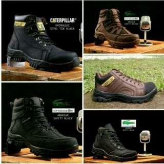 Sepatu SAFETY BOOTS, pekerja, traveling, proyek, hiking, kantoran dll