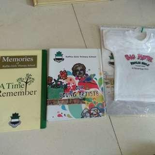 Raffles girls' primary school post cards and souvenir