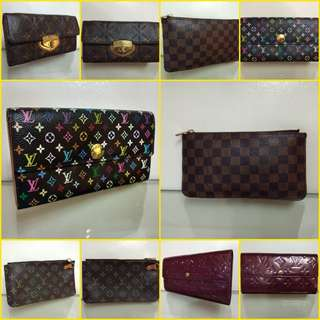 Authentic LV wallets in different designs