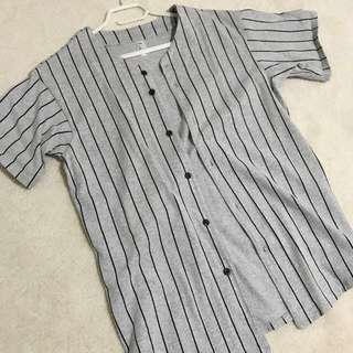 AMERICAN APPAREL thick knit baseball jersey