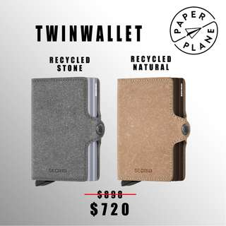 荷蘭SECRID 智能防盜 Twinwallet 銀包 - 環保灰/原色 Recycled Stone/ Natural(啡/銀鋁)