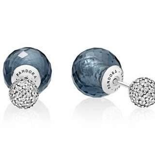PANDORA SHIMMERING STUDS EARRINGS