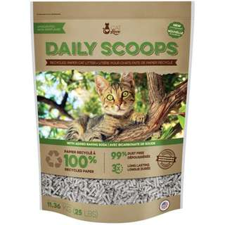 Cat Love Daily Scoops Recycled Paper Litter 25Lb