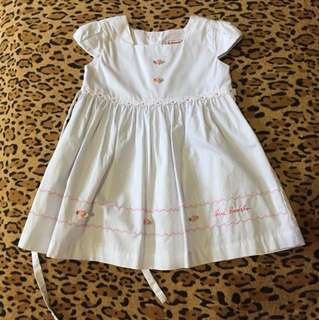 White dress 12-18 months (good as new)