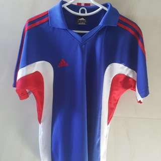 Authentic Adidas Blue Red Polo Shirt