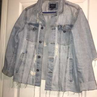 Forever 21 Ripped Denim Jacket