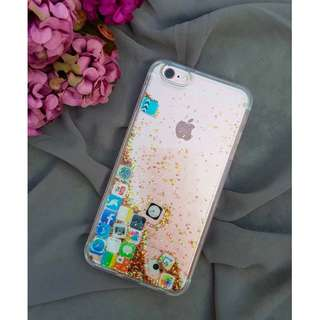 MOVING ICONS GLITTER CASE