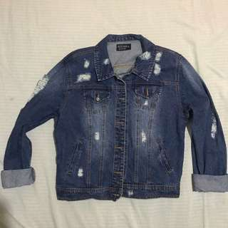 Distressed Maong Jacket