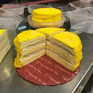 Durian Crepe And Mille Durian Crepe
