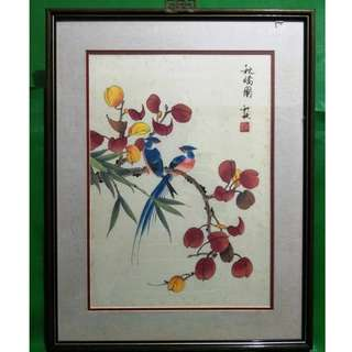 Chinese painting autumn flowers and birds 1, 中国画秋天花鸟 1
