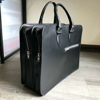 Custom made leather bag / briefcase - never used before!