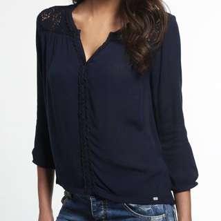 Eyelet lace blouse