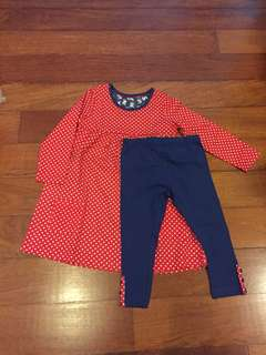 NEW Mothercare blouse& pants set