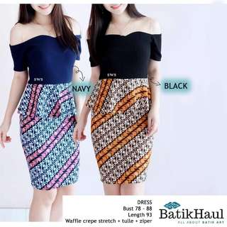 Batik Ethnic Dress Office Formal Work (type AMY)