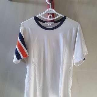 Adidas Y-3 Blue-Orange Ringer Shirt