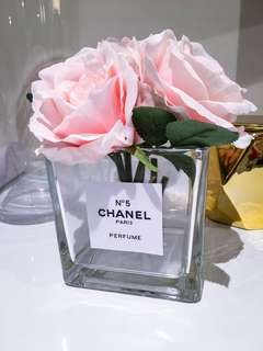 Brand new solid glass chanel vase
