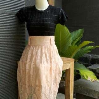 Rok Brokat (Midi Skirt)