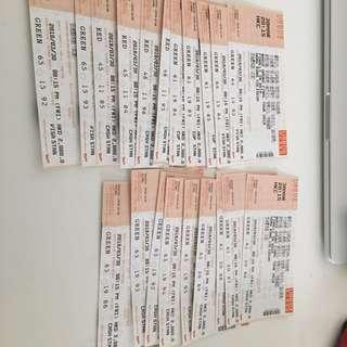 安室奈美惠Namie amuro 香港演唱會 3月30日 (fri) 2080票 / 20張有現票可面交