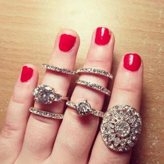 Sparkly Silver Rings