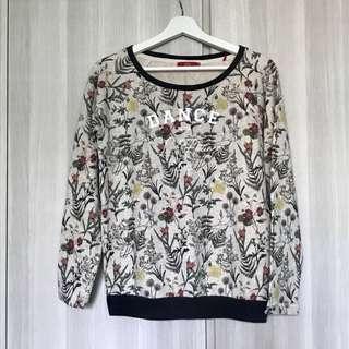 Esprit Floral Sweater Top XS