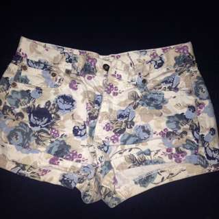 F21 Floral Shorts
