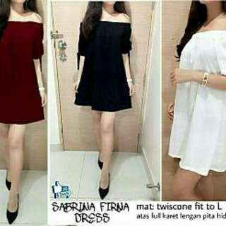 DRESS FIRNA  Bahan twiscone soft fit L