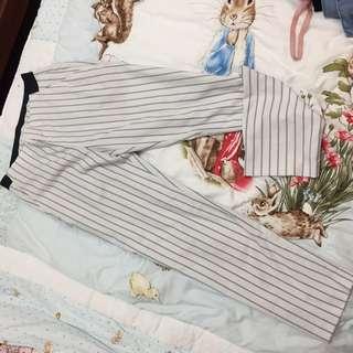 Uniqlo條紋長褲