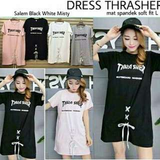 DRESS THRASHER  Bahan spandek soft fit L