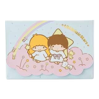 Japan Sanrio Little Twin Stars Passbook & Card Case (Rainbow)
