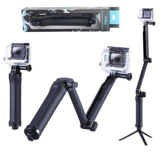 [NEW] Selfie Stick 3 Way Monopod Stand Mini Tripod For Action Camera