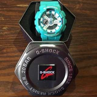 90% new Casio G-SHOCK tiffany blue手錶