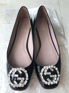 Gucci Swarovski Crystal Flat Shoes