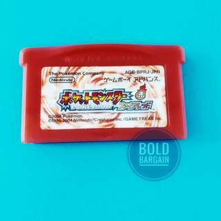 Authentic PoKeMon Fire Red Version Nintendo Game Cartridge For Game Boy Advance SP DS Lite