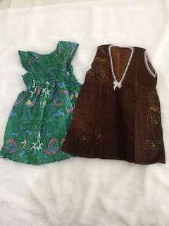 Dress batik bayi
