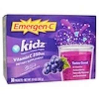 Emergen-C, Kids, Grape, 30 Packets, 9.4 g Each Product ID: ALA-30406  Weight: 0.95 lbs