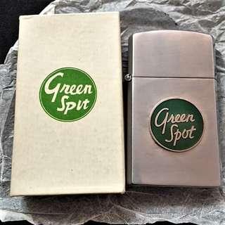 "Antique Sharn ""Green Spot"" Lighter Made In Japan. In original box."