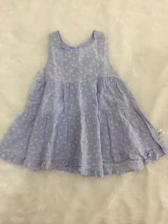 Dress anak biru muda