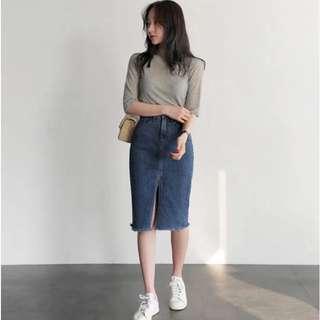 [Pre-Order] Denim Skirt