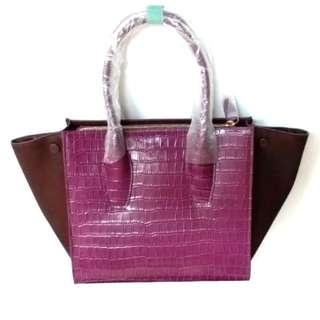 Ditta Luis 全新紫色真皮手袋