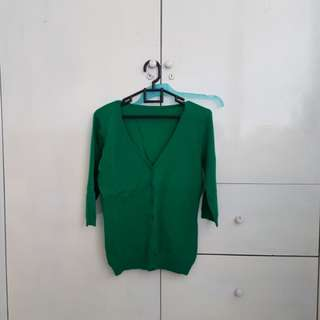 Cardigan hijau green sweater jaket jacket