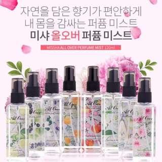 Missha All Over Perfume Mist 120ml 香水噴霧