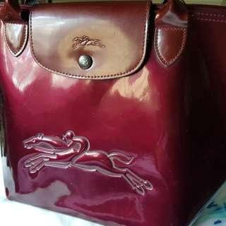Longchamp patent leather medium