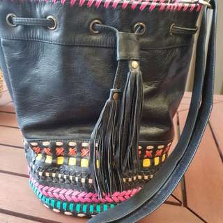 Leather bucket/tote bag