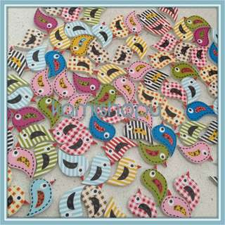 Craft Wooden Birdie Buttons